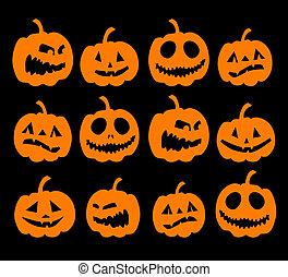 Halloween-Nacht-Hintergrund, Kürbisse