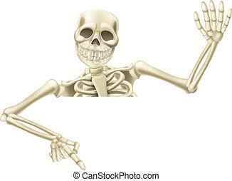 Halloween-Skelett