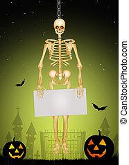 halloween, skelett