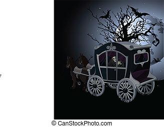 Halloween-Wagen-Hintergrund