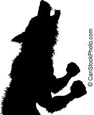 halloween, werwolf, silhouette, wolfman