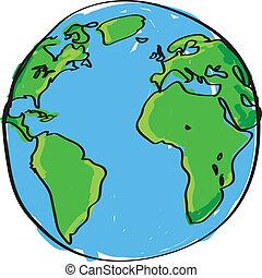 Hand gemalte Erde
