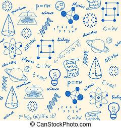 Hand gezeichnete, nahrlose wissenschaftliche Ikonen