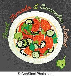 Hand gezeichneter Salat