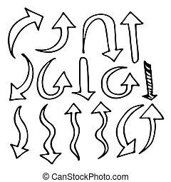 Hand gezeichnetes Herzsymbol.