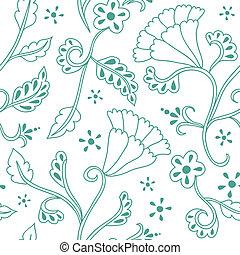 Hand gezeichnetes, nahtloses Blumenmuster