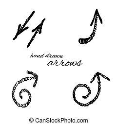 Hand gezeichnetes Pfeilsymbol.
