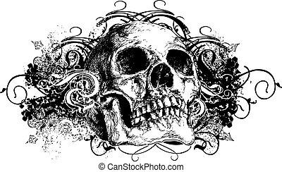 Hand gezeichnetes Schädelbild