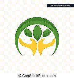 Hand-Haft-Vektor-Icon isoliert auf transparentem Hintergrund, Hand-Holding-Logo-Design.