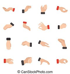 Hand-Icons Set.