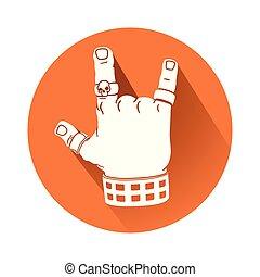 Hand in Gestensymbol.