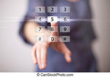 Handdrücken digitaler Knopf