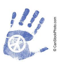 Handdruck / Vektor / Friedenszeichen