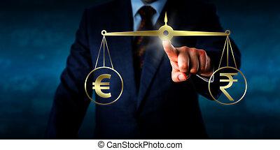 Handelt den Euro mit dem indischen Rupien