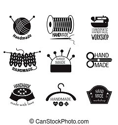 Handgefertigte Monochrom-Logos.