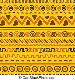 Handgemachtes Muster mit ethnischen geometrischen Zierde für Ihr Design