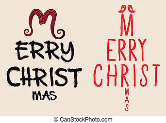 Handgeschriebene Weihnachtskarte, Vektor