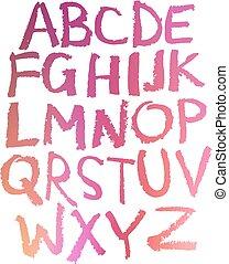 Handgeschriebenes Alphabet.