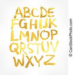Handgeschriebenes Alphabet. Vector