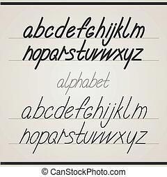 Handgeschriebenes Alphabet
