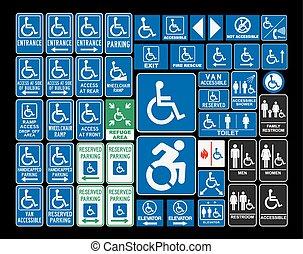 Handicap-Schilder.