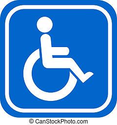 Handicapped Person Schild.