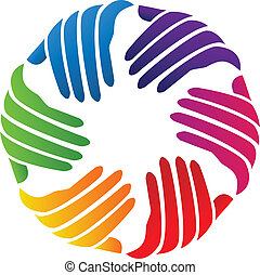 Hands Charity Firmenlogo Vektor.