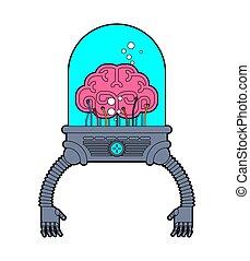 hands., organs., robotic, künstlich, technologie, gehirn, roboter, menschliche , intelligenz, future., eisen, cyborg