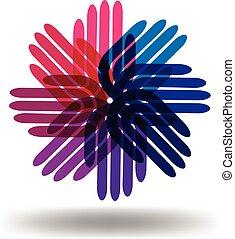 Hands Teamwork Logo.
