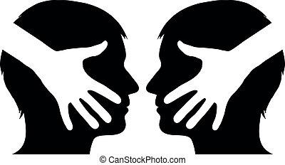 Handschütteln zwischen zwei Mann.