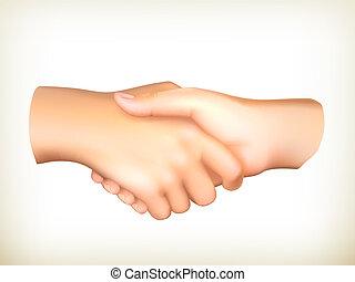 Handschlag, Vektor