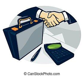 Handshake-Brieftasche-Pen-Kalk.