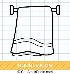 Handtuch-Doodle.