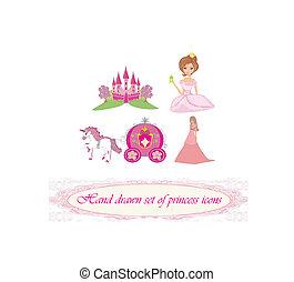 Handvoll Prinzessinnen-Ikonen