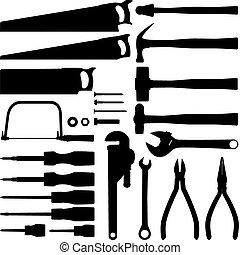Handwerkzeug-Silhouette-Sammlung.