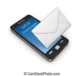 Handy-E-Mail-Konzept
