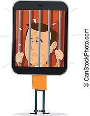 Handy-Gefangener