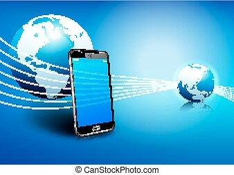 Handy globale digitale Kommunikation.