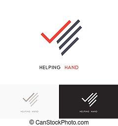 Handzeichen helfen