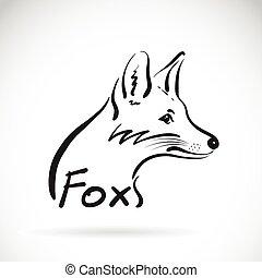 Handzeichner zeichnen einen Fuchs auf weißem Hintergrund. Tierdesign