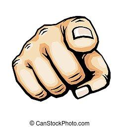 Handzeichnet Fingervektor-Anzeige