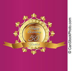 Happy 50 Geburtstagsgolddesign