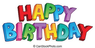 Happy Birthday großes Zeichen 1
