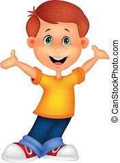 Happy boy Cartoon posing.