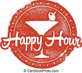 Happy Hour Coctail-Briefmarke