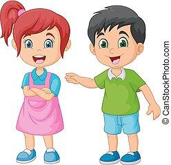 Happy Kid Cartoon.