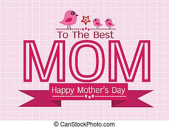 Happy Mothers Day Greeting Card Design für deine Mom.