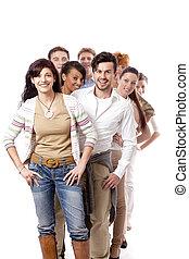 Happy people Business-Team-Gruppe zusammen.