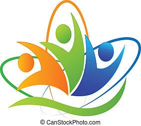 Happy people Erfolg app logo.