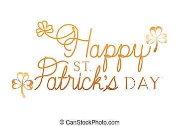 Happy St Patrick's Day Label Icons.